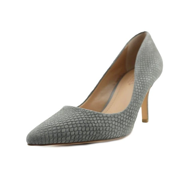 Charles By Charles David Sasha Women Pointed Toe Leather Gray Heels