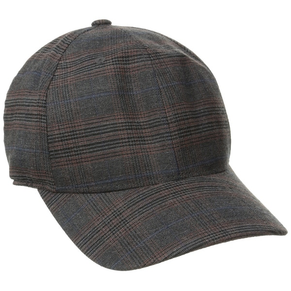 a833a13511f Shop Kangol Gray Men s One Size Adjustable Plaid Print Baseball Cap - Free  Shipping On Orders Over  45 - Overstock.com - 22359943