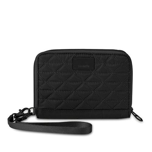 Pacsafe RFIDsafe W150-Black RFID Blocking Organiser w/ Detachable Metal Chain