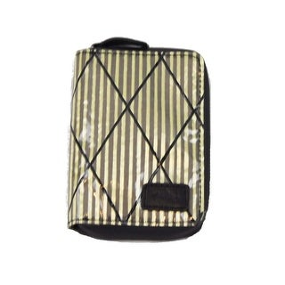 Tommy Bahama Mens Zipup Green Stripes Wallet One Size