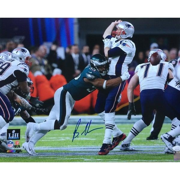 94b00b68a0b Shop Brandon Graham Signed 16x20 Eagles Super Bowl 52 Tom Brady Strip Sack  Photo JSA - Free Shipping Today - Overstock - 26234378