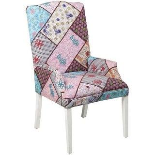 Surya FL1022 Tweed Linen Upholstered Arm Chair
