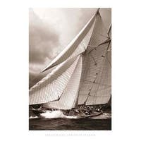 ''Schooner Mariette'' by Christian Fevrier Kunst Graphics Art Print (31.5 x 23.5 in.)