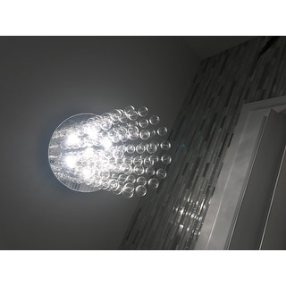 Floating Glass Bubble 7-light Flushmount Ceiling Chandelier