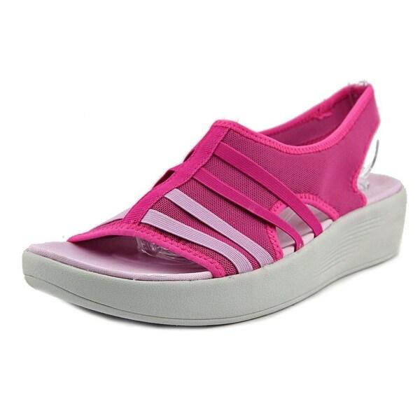 Easy Spirit e360 Boatyard Women  Open Toe Canvas Pink Wedge Sandal