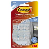 3M 17210CLR Command Fridge Hooks, Clear