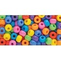 Circus Multicolor - Pony Beads 11mmX8mm 200/Pkg