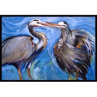 Carolines Treasures JMK1011MAT Blue Heron Love Indoor & Outdoor Mat 18 x 27 in.