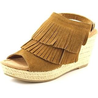 Minnetonka Ashley Women  Open Toe Suede  Wedge Sandal