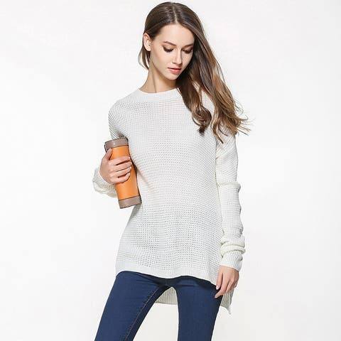 Women's Large Size Thin Sweater Loose Pullover Sweater