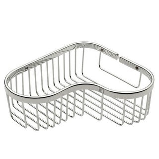 "Ginger 505L Splashables 9.7"" Brass Wall Mounted Wire Corner Basket"