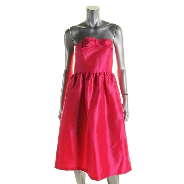 Cynthia Steffe Womens Semi Formal Dress Bow Sweetheart Neckline 8