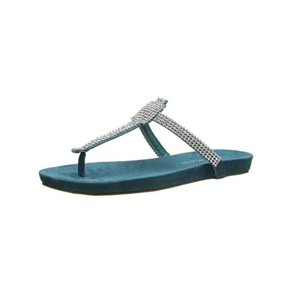 Matisse Womens T-Strap Sandals Rhinestone Thong