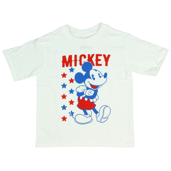 3b3651be245 Shop Disney T Shirt Mickey Mouse Red White Blue Stars Cartoon Toddler Tee -  Free Shipping On Orders Over  45 - Overstock - 25360898