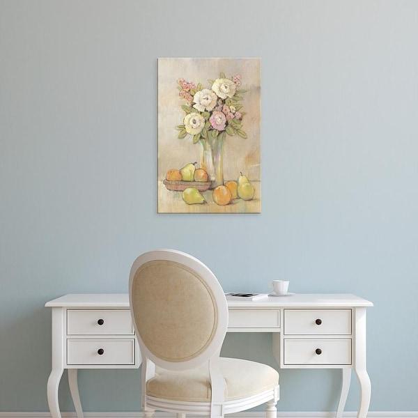 Easy Art Prints Tim OToole's 'Still Life Study Flowers & Fruit I' Premium Canvas Art