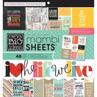 """MAMBI Single-Sided Paper Pad 12""""X12"""" 48/Pkg-Quoted"""