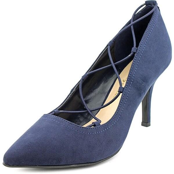 Ann Marino by Bettye Muller Kalysta Women  Pointed Toe Suede Blue Heels
