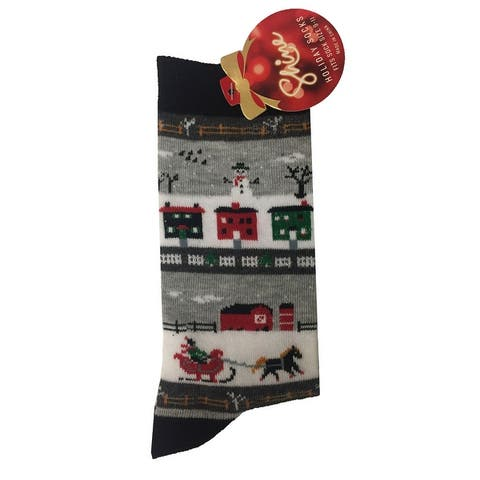 Shine Women's 1-Pair Christmas Holiday Crew Socks - 9-11