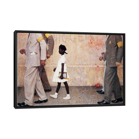 """iCanvas """"The Problem We All Live With (Ruby Bridges)"""" by Norman Rockwell Framed Canvas Print"""