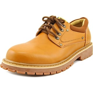 Alexis Leroy Confucius Men Round Toe Leather Tan Work Shoe