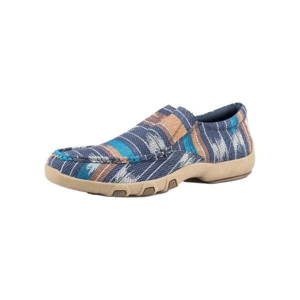 Roper Western Shoes Mens Moc Fabric Shoe Tan White