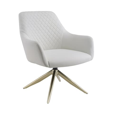 Art Leon Swivel Accent Chair with Metal Base