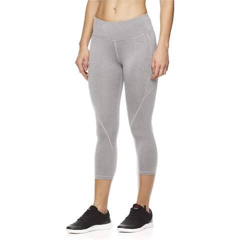 Reebok Womens Capri Seamed Compression Athletic Pants