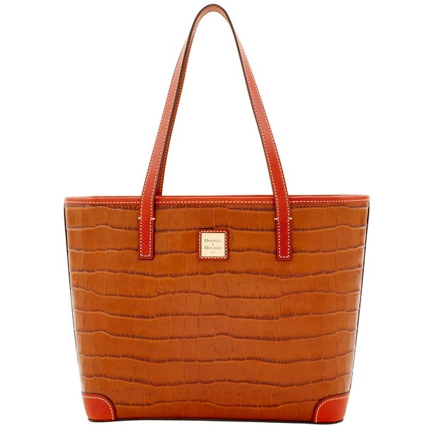 Dooney & Bourke Croco Charleston (Introduced by Dooney & Bourke at $248 in Jan 2017) - Cognac