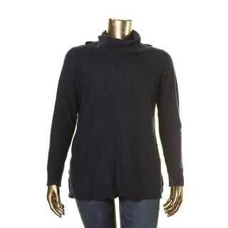 Lauren Ralph Lauren Womens Pullover Sweater Cashmere Side Slit