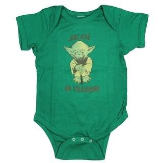 Star Wars Baby Boys' Toddler Yoda Jedi In Training Bodysuit Snapsuit