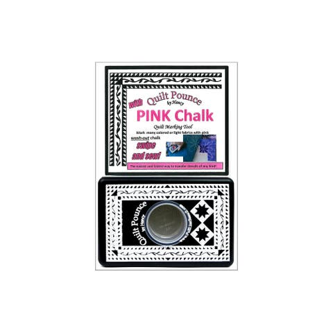 Hancy Mfg Quilt Pounce Marking Pad Pink