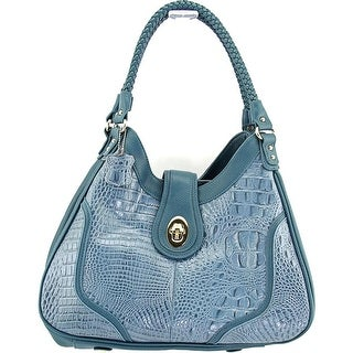 Madi Claire Nikki Women Leather Hobo - Blue