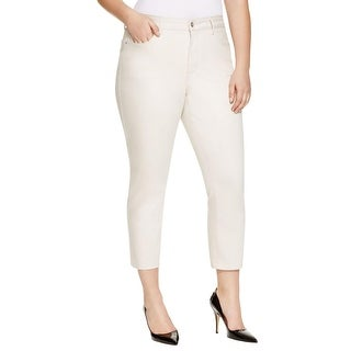 NYDJ Womens Plus Ira Ankle Jeans Relaxed High Rise