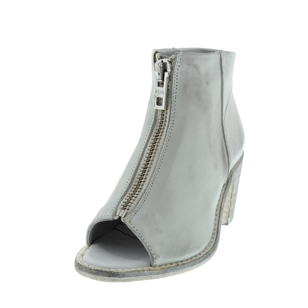 Diesel Womens Chelsea Show Cox Ankle Boots Leather Open-Toe