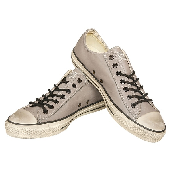 6ddf9604c5ad John Varvatos Converse Chuck Taylor Oxford Gray Leather Sneakers Size 9.5