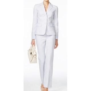 Le Suit NEW Purple Women's Size 10 Notch Collar 3-Button Pant Suit Set