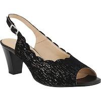 Spring Step Women's Janelle Slingback Black Leather