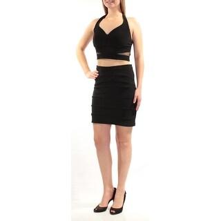 Womens Black Mini Pencil Dress Size: 7