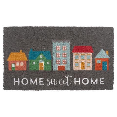 Coir Outdoor Doormat, Grey