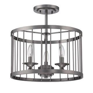 Craftmade 39453 Villa 3 Light Semi Flush Ceiling Light - 16 Inches Wide