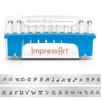 ImpressArt 33-Piece Deluxe Uppercase Alphabet Stamps 'Ballroom Boogie' 1/8 (3mm) - 1 Set