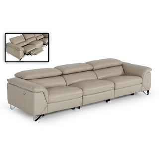 Link to Divani Casa Maine Modern Taupe Eco-Leather Sofa w/ Electric Recliners Similar Items in Sofas & Couches