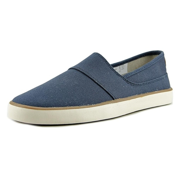 Crevo Pergen Men Round Toe Canvas Blue Loafer