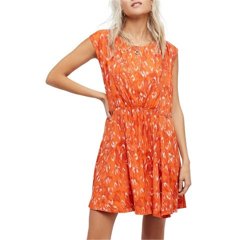 Free People Womens Fake Love Printed Mini Dress