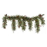 "6.5' x 35"" Red Berry and Ball Ornament Mixed Pine Artificial Christmas Garland - Unlit"