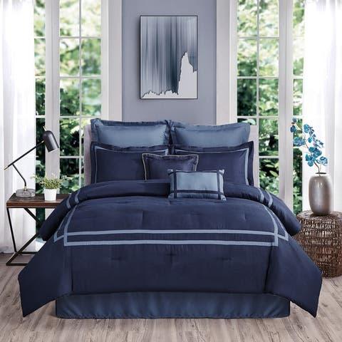 Beaute Living 8 Piece Hotel Comforter Set