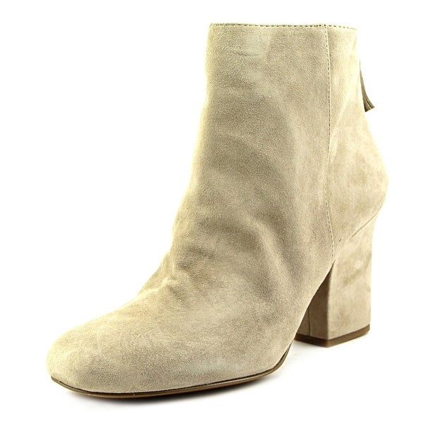 Nine West Genevieve Square Toe Suede Ankle Boot