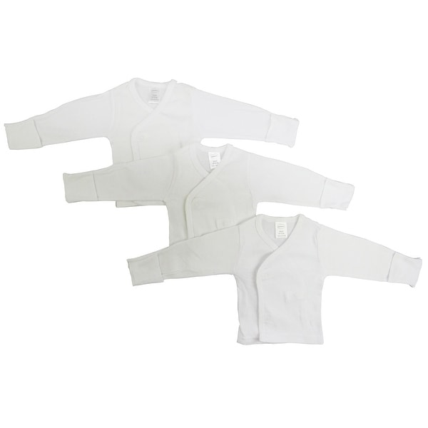 Bambini Long Sleeve Side Snap With Mittens - 3 Pack - Size - Newborn - Unisex