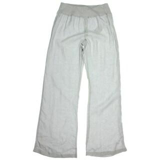 Calvin Klein Womens Linen Wide Leg Casual Pants