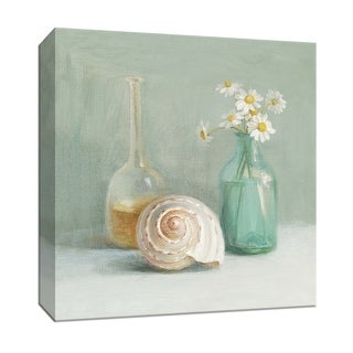 """PTM Images 9-152370  PTM Canvas Collection 12"""" x 12"""" - """"Chamomile Spa"""" Giclee Shells Art Print on Canvas"""